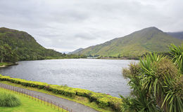 Beautiful lake near the Kylemore Abbey. Royalty Free Stock Photography