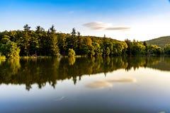 The beautiful lake near Stara Zagora Bulgaria.  stock photo