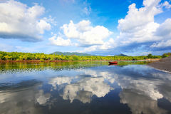 Beautiful lake. With nice cloud and sky Stock Images
