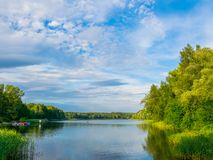 The beautiful  lake with a nice reflection on the water.  royalty free stock photography