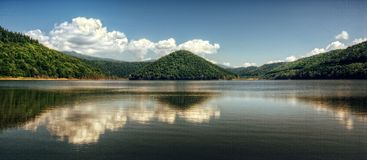 Beautiful lake panorama Royalty Free Stock Image