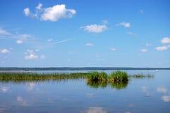 Beautiful lake in Pereslavl, Russia Royalty Free Stock Images