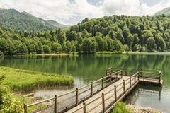Beautiful lake and pier Stock Image