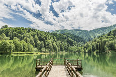 Beautiful lake and pier Royalty Free Stock Photo