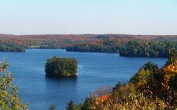 A beautiful lake in the province of Quebec. royalty free stock photo