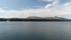 Beautiful lake with quarry mountain