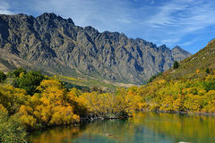 Beautiful lake at Queen Town in New Zealand Stock Photography