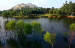 beautiful Lake Scenery Royalty Free Stock Photos