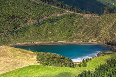 Beautiful lake of Sete Cidades, Azores, Portugal Europe Royalty Free Stock Image