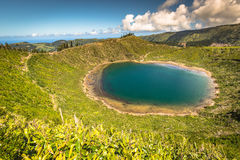 Beautiful lake of Sete Cidades, Azores, Portugal Europe Royalty Free Stock Photo