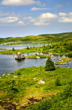 Beautiful lake shore in Newfoundland Royalty Free Stock Images