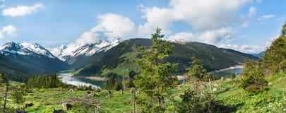 Beautiful lake Speicher Durlassboden Stock Images