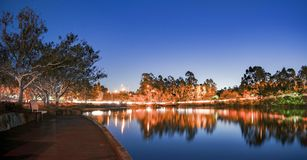 Beautiful lake in Springfield Lakes at dusk. Stock Image
