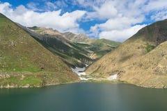 Beautiful lake in summer along the way to Babusar pass, Pakistan Stock Photos