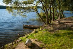 Beautiful lake in summer day Royalty Free Stock Photos