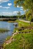 Beautiful lake in summer day Royalty Free Stock Images