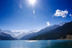 Beautiful lake in a sunny day Stock Image