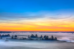 Beautiful Lake On Sunrise Stock Image