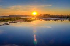 Beautiful Lake On Sunrise Royalty Free Stock Images