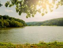 Beautiful lake at sunset Stock Photography