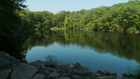 Beautiful lake surrounded by greenery (3 of 5) stock footage