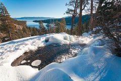 Beautiful Lake Tahoe California. Lake Tahoe is a large freshwater lake in the Sierra Nevada of the United States royalty free stock photo