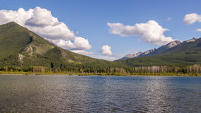 Beautiful Lake Vermilion in the mountains of Banff National Park. Mountains and lakes. The Canadian province of Alberta. Concept of active tourism and Stock Image
