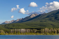Beautiful Lake Vermilion in the mountains of Banff National Park. Mountains and lakes. The Canadian province of Alberta. Concept of active tourism and Stock Photo