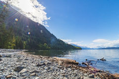 Beautiful Lake view at sunrise. In BC Canada Royalty Free Stock Photography