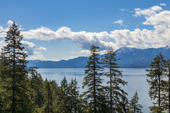 Beautiful Lake view at sunrise. In BC Canada Royalty Free Stock Photos