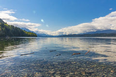 Beautiful Lake view at sunrise. In BC Canada Stock Image