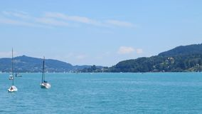 Beautiful lake woerthersee in austria Royalty Free Stock Image