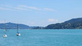 Beautiful lake woerthersee in austria Royalty Free Stock Image