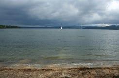 Beautiful lake and yaht Royalty Free Stock Photo