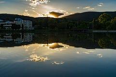 Beautiful Lake Zagorka near Stara Zagora Bulgaria.  royalty free stock photography