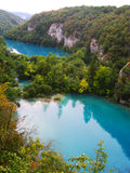 The beautiful lakes cascade in Plitvice National Park, Croatia Stock Images