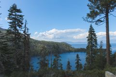 Beautiful Lakes and Mountains of Lake Tahoe.  royalty free stock images