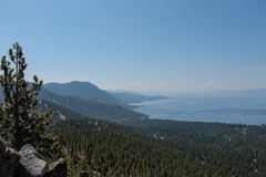Beautiful Lakes and Mountains of Lake Tahoe.  royalty free stock image