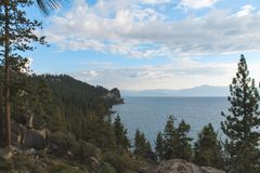 Beautiful Lakes and Mountains of Lake Tahoe.  royalty free stock photos