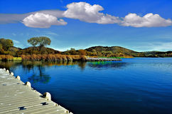 Beautiful Lakeside View From the Dock Royalty Free Stock Photo
