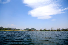 The beautiful lakeview in puzhehei county,yunnan, china Royalty Free Stock Images