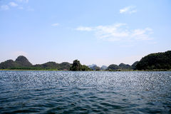 The beautiful lakeview in puzhehei county,yunnan, china Royalty Free Stock Photography