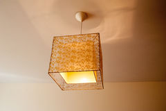 Beautiful lamp on the ceiling in the bedroom Stock Photography