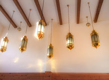 Beautiful lamp hanging. Because it has a strikingly fine art pattern Royalty Free Stock Image