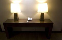 Beautiful lamp lighting in hotel lobby Royalty Free Stock Photos