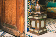 Beautiful lamp in a moroccan interior Stock Photo