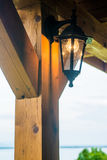 The Beautiful lamp post in the evening before sunset. Royalty Free Stock Photo
