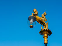 Beautiful lamp under blue sky. In Thailand has many beautiful light poles everywhere Royalty Free Stock Image