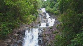 Beautiful Lampi waterfall in KhaoLak - Lumru national park stock video
