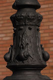 Beautiful lamppost base Royalty Free Stock Image